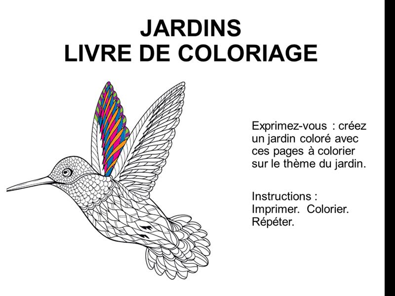 Livre de coloriage Jardins