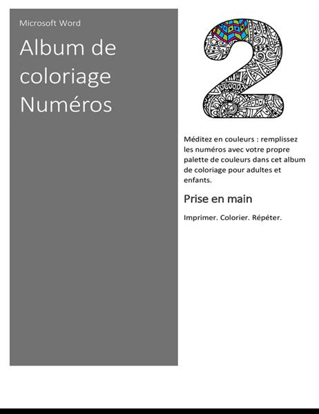 Cahier à colorier Numéros