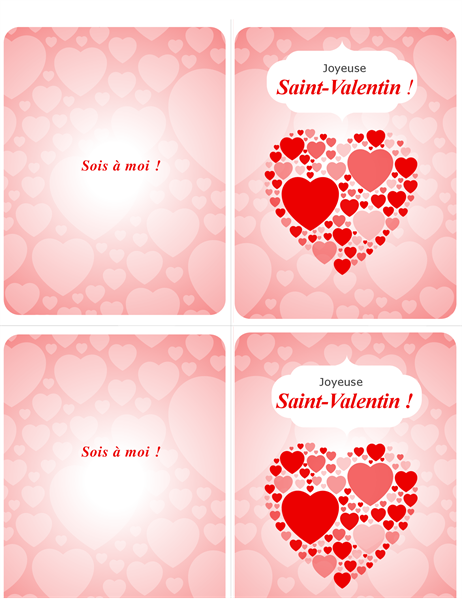 Sois à moi ! Carte de Saint-Valentin