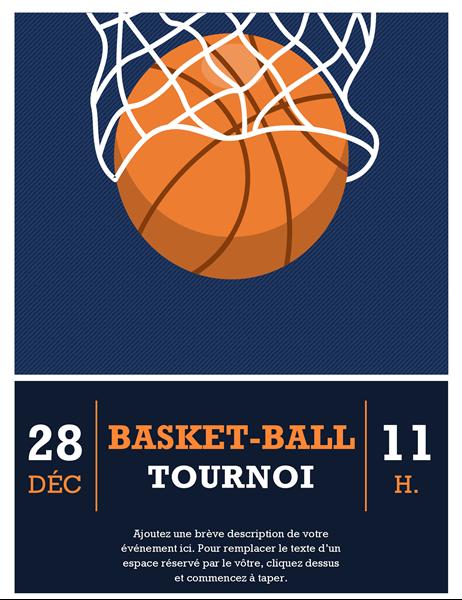 Prospectus de tournoi de basket-ball