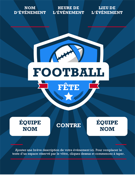 Prospectus de match de football