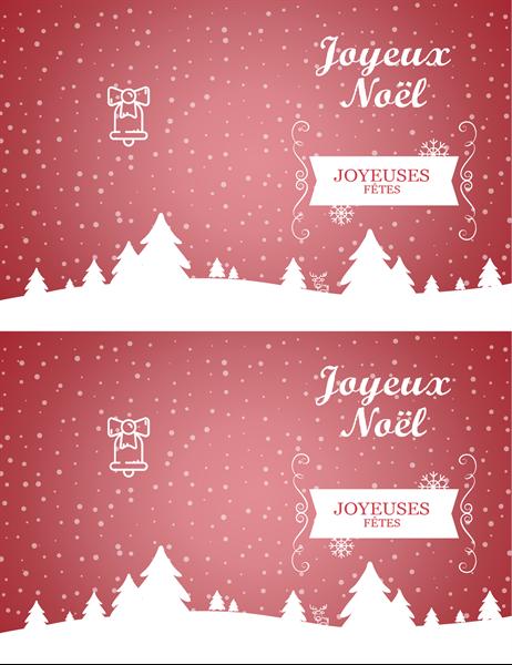 Carte de Noël Paysage enneigé