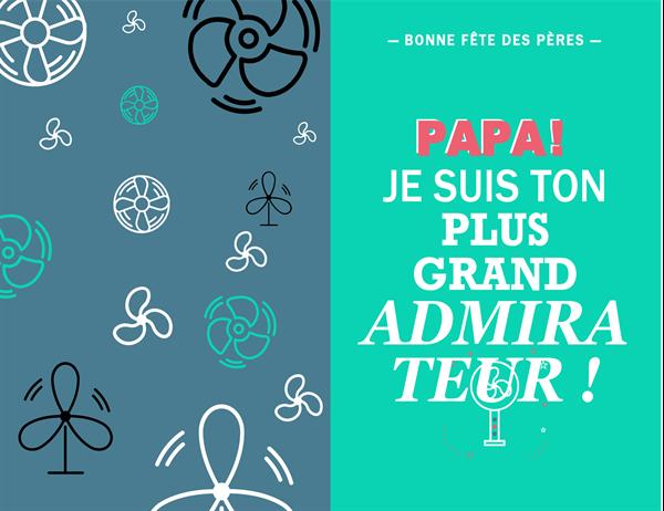 Carte de fête des pères du plus grand admirateur de papa