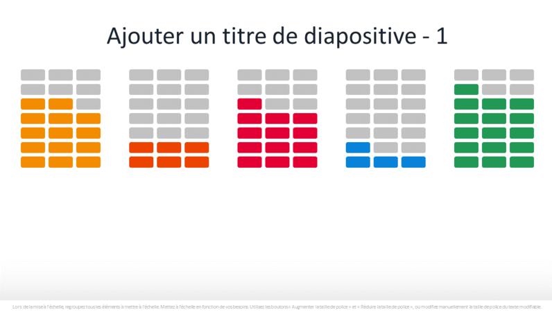 Graphique de pourcentage avec infographie