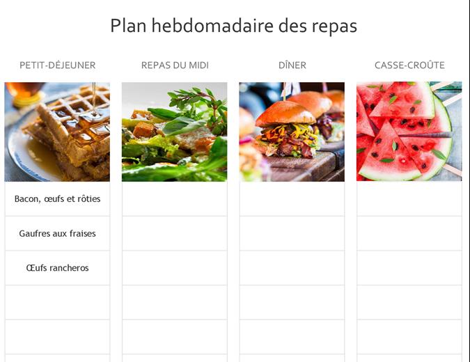 Planificateur de repas simple