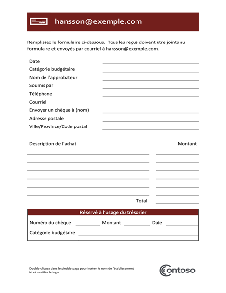 Vergoedingsformulier