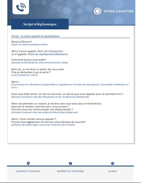 Script téléphonique pour les petites entreprises