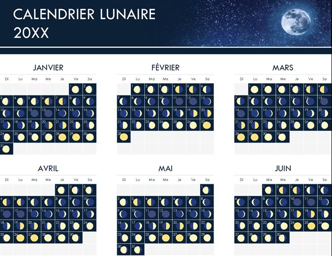 Phases du calendrier lunaire