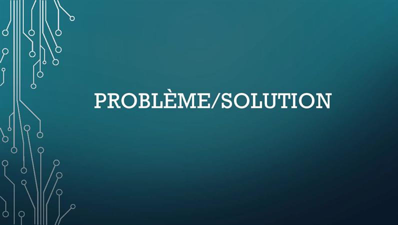 Cycle problème/solution