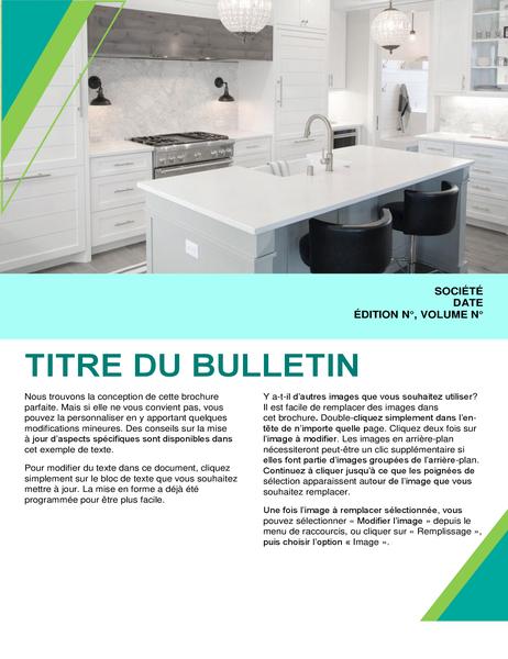 Bulletin d'informations de décoration d'intérieur
