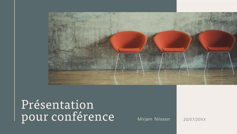 Présentation contemporaine pour conférence