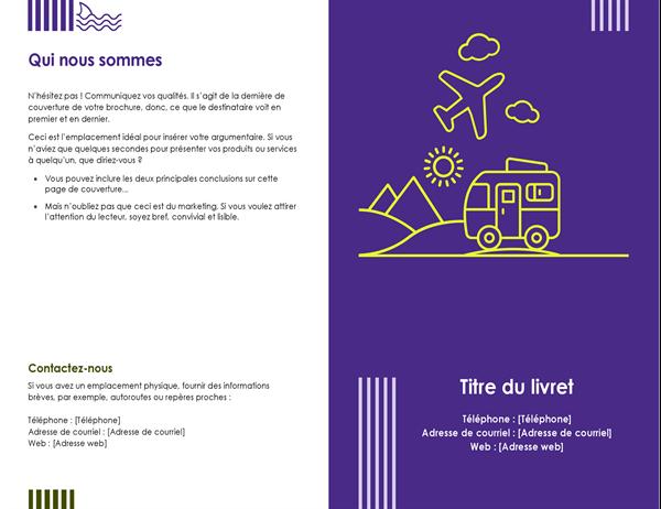 Brochure d'agence de voyages