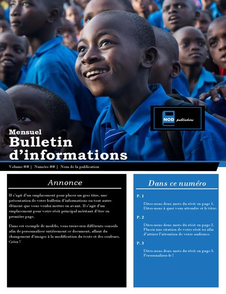 Bulletin d'information pour organisme de bienfaisance