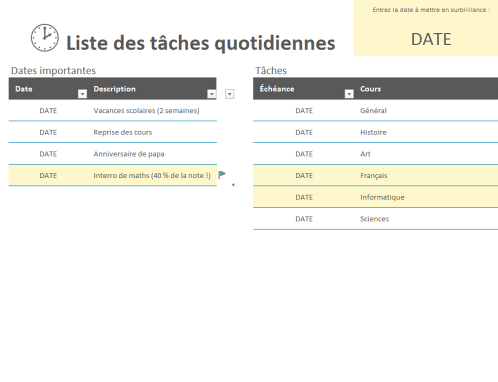Fabuleux Liste de courses - Office Templates KY25