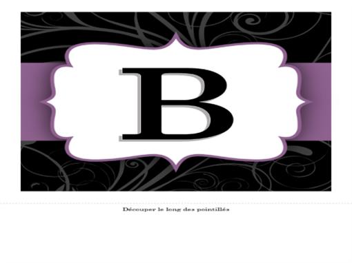 Bannière d'anniversaire (ruban violet)