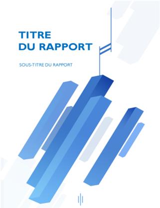 """Page de garde """"Business"""" pour rapport"""