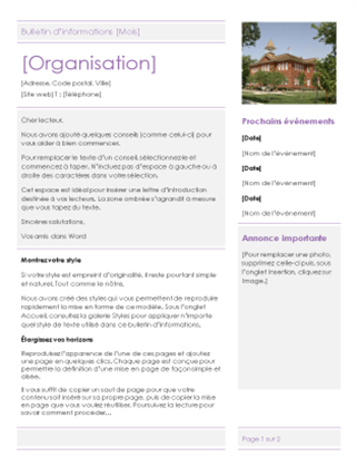 Bulletin d'information d'école primaire