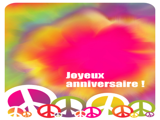 Carte d'anniversaire (tie dye)