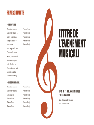 Programme de musique