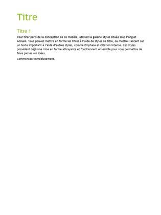 Modèle vide (conception Facette)