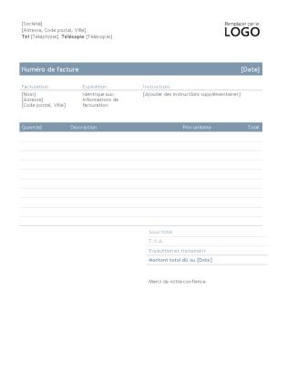 Facture d'entreprise (style intemporel)