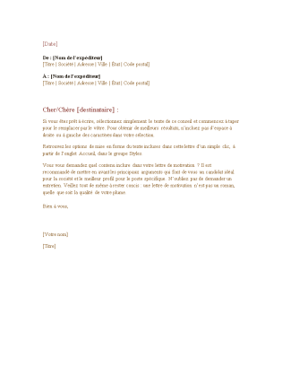 Lettre Commerciale Formelle Office Templates