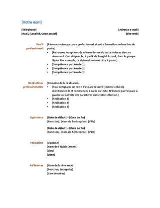 CV (conception fonctionnelle)
