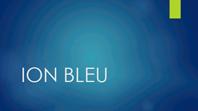 Ion bleu