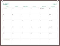 Calendrier scolaire 2014-2015 (août à juillet)