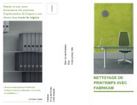 Brochure professionnelle à trois volets (design vert et noir)