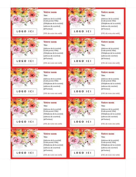 Cartes de visite rétro Fleurs