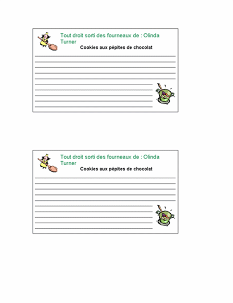 Recipe cards (personalized, 2 per page)