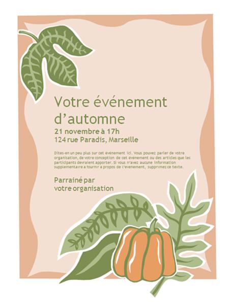 Fall event flyer (with pumpkin)