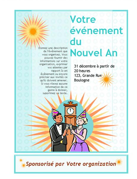 Invitation pour votre événement du Nouvel An