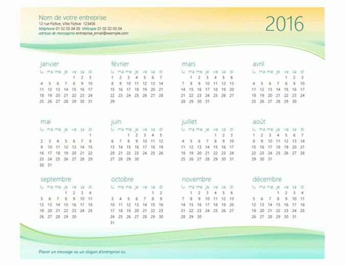 Kalender für kleine Unternehmen (beliebiges Jahr)