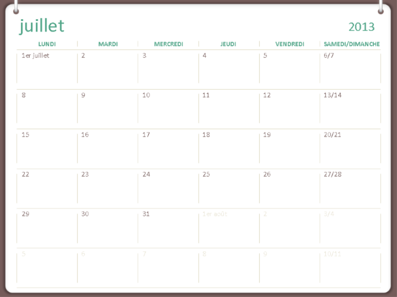 Akademisk kalender for 2013-2014 (juli)