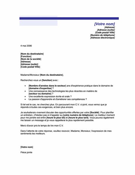 lettre de motivation pour une candidature spontan u00e9e  th u00e8me trait bleu