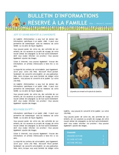 Familienieuwsbrief