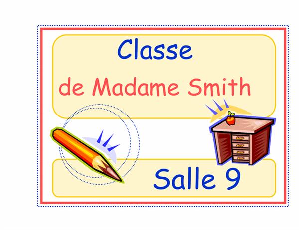 Schild für Klassenraum (Grund)