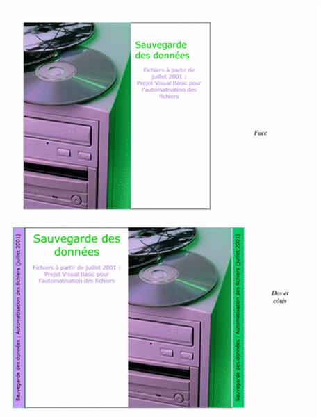 Jaquettes de boîte de CD pour noter les données sauvegardées