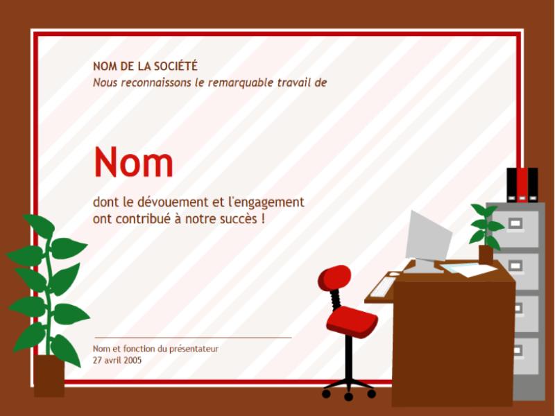 Certificat pour professionnel de l'administration