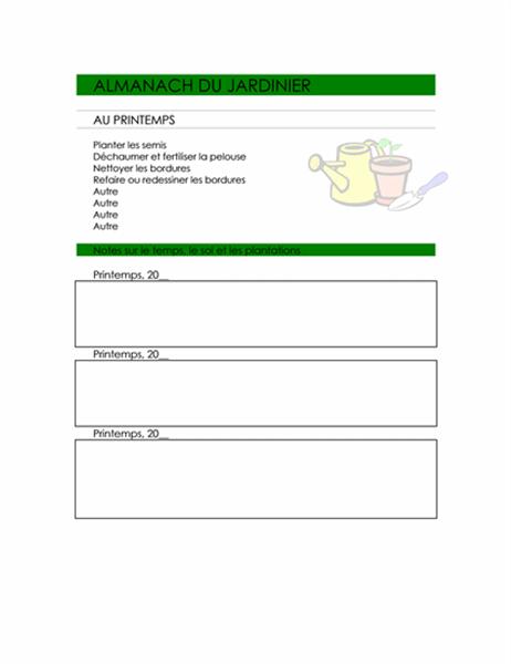 Almanach du jardinier