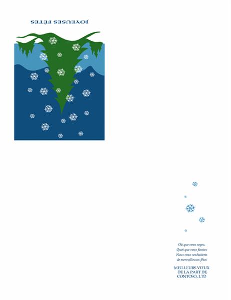 Carte de voeux commerciale (avec scène d'hiver)