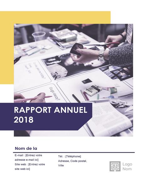 Rapport annuel (conception Rouge et noir)