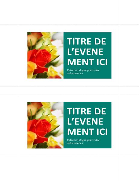 Cartes postales promotionnelles (2 par page)