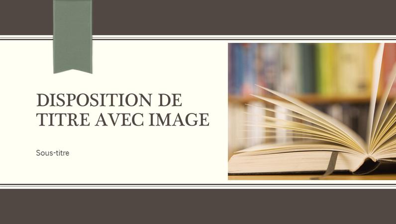 Wetenschappelijke presentatie, ontwerp met krijtstreep en lint (breedbeeld)