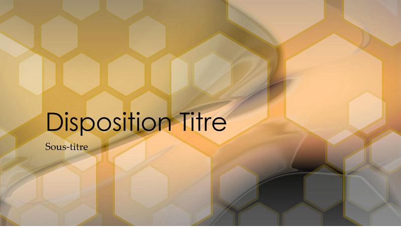 Diapositives de conception Hexagonal