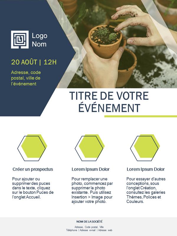 Prospectus petite entreprise (conception verte)