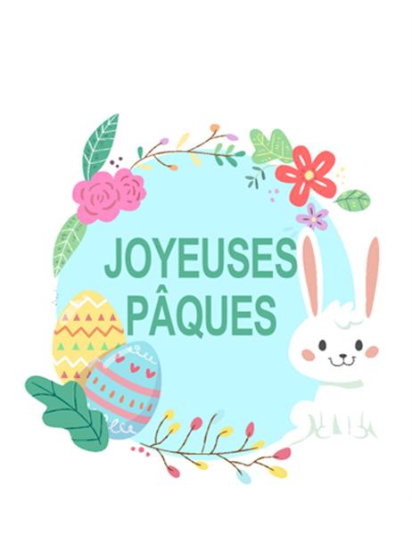 Carte Joyeux Pâques (en quatre)