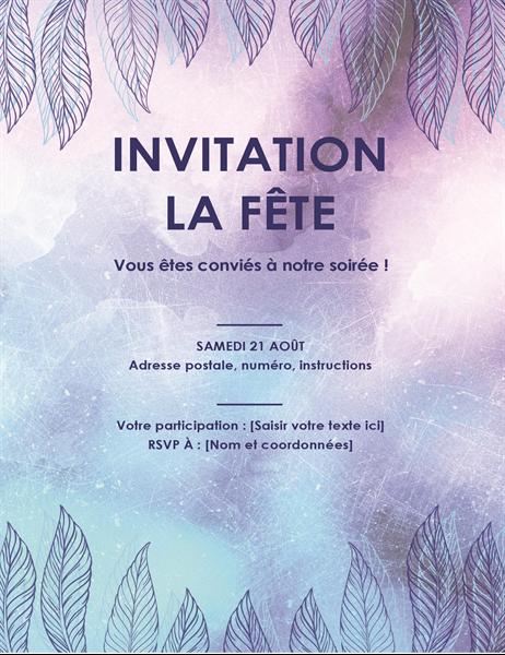 Prospectus d'invitation à une fête